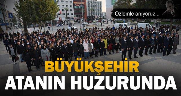 Büyükşehir çalışanları Ata'nın huzurunda