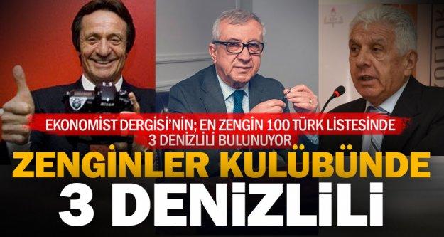 En zengin 100 Türk listesinde 3 Denizlili