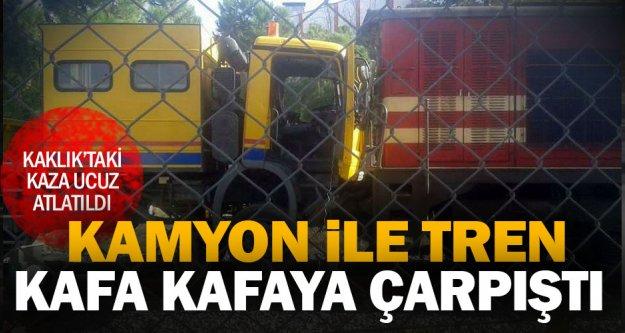 Kaklık'taki tren kazası ucuz atlatıldı