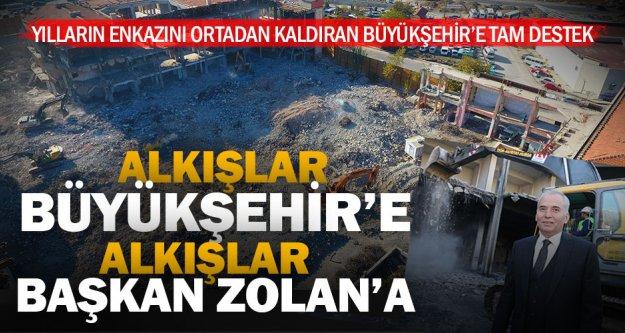 Yılların enkazını ortadan kaldıran Büyükşehir'e vatandaştan destek