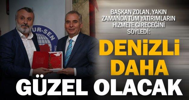 """Başkan Osman Zolan Memur-Sen'e konuk oldu, 'Denizli daha güzel olacak"""" dedi"""