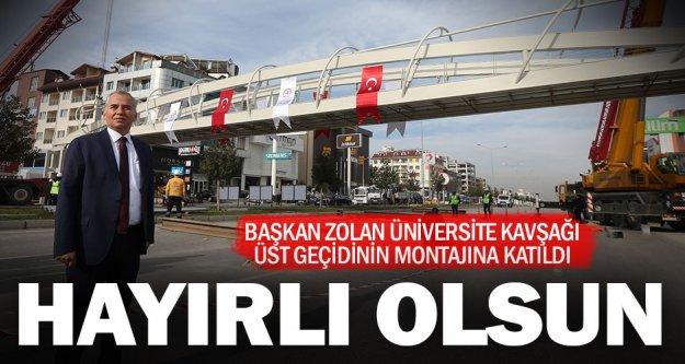 """Başkan Osman Zolan: 'Yeni yaya üst geçidimiz hayırlı olsun"""""""
