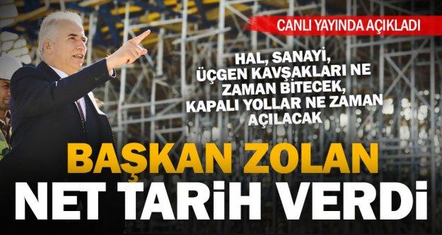 Başkan Zolan, kapalı yollar ve kavşaklarla ilgili konuştu, net tarih verdi