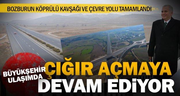 Bozburun Köprülü Kavşağı ve yeni çevre yolu tamamlandı