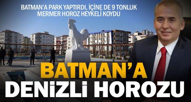 Büyükşehir Batman'a park yaptı, içine de horoz heykeli koydu