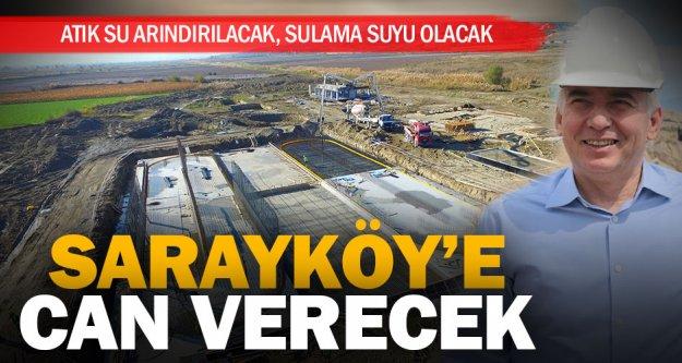 Büyükşehir'den bir atıksu arıtma tesisi de Sarayköy'e