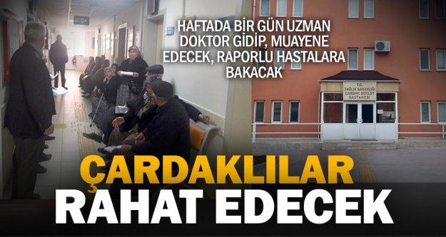 Çardak Devlet Hastanesine haftada bir günlük doktor atandı