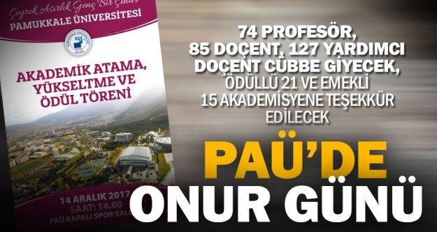 'Çeyrek Asırlık Genç Bir Çınar' PAÜ'de Onur Günü