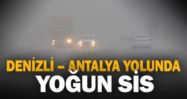 Denizli-Antalya karayolunda yoğun sis