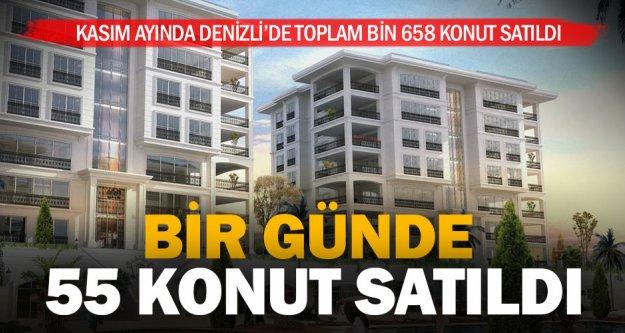 Kasım ayında bin 658 konut satıldı