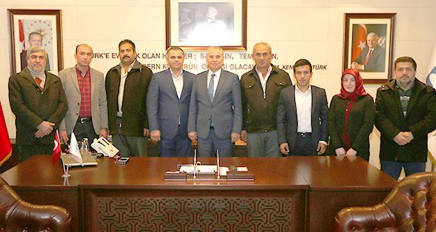 Serinhisar AK Parti'den Başkan Zolan'a ziyaret