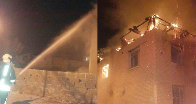 Sığma'da İki katlı evde yangın