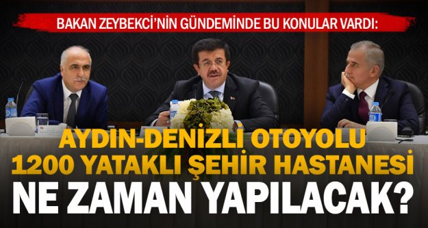 Bakan Zeybekci'den otoyol ve şehir hastanesi açıklaması