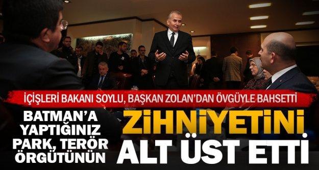 Başkan Osman Zolan'a ve hizmetlerine övgü