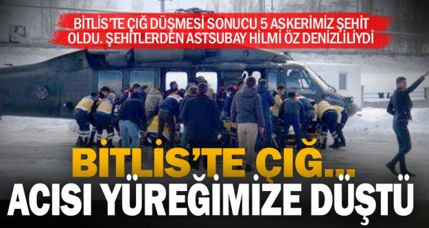 Bitlis'teki çığ felaketinde Denizlili astsubay şehit oldu