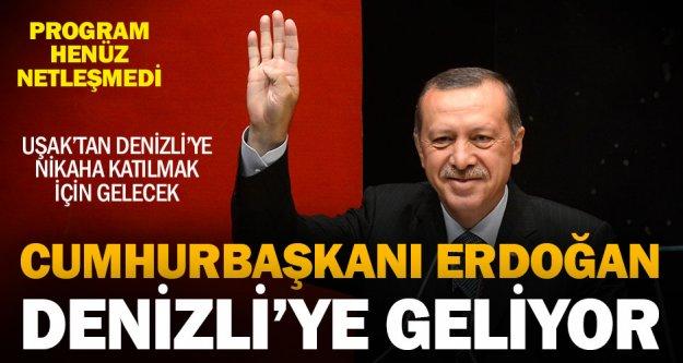 Cumhurbaşkanı Erdoğan 20 Ocak'ta Denizli'ye gelecek