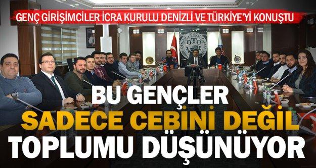 Girişimci gençler, Denizli ve Türkiye'yi konuştu