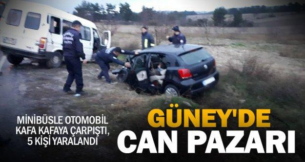 Güney-Eziler yolundaki kazada 5 kişi yaralandı