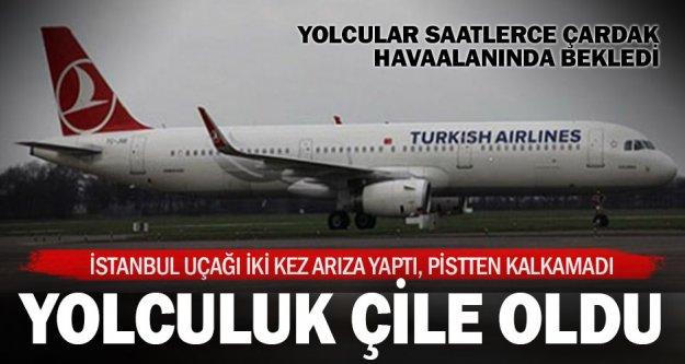 İstanbul uçağı iki kez denedi kalkamadı, yolcular havaalanında kaldı