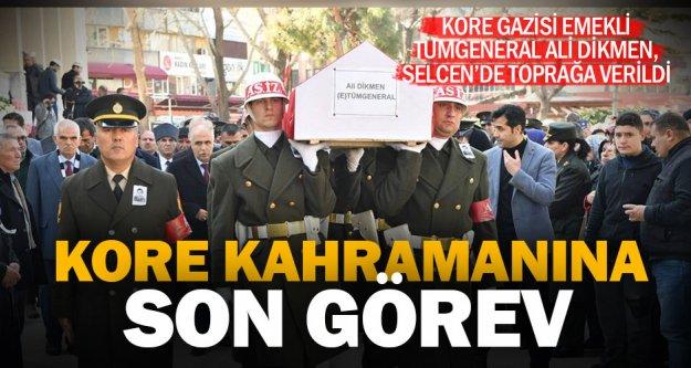 Kore Gazisi Emekli Tümgeneral Ali Dikmen toprağa verildi