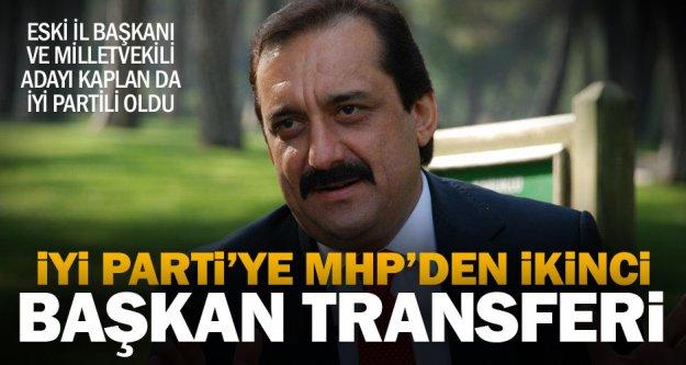 MHP'nin eski il başkanı Zafer Kaplan İyi Parti rozeti taktı