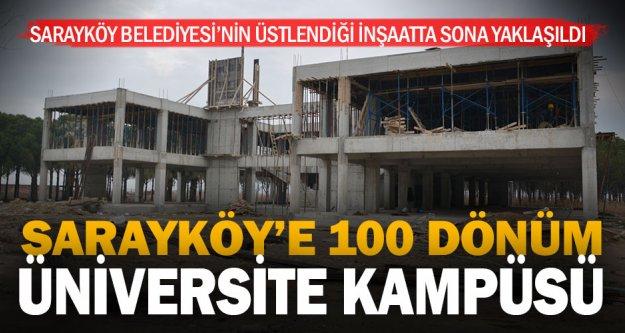 PAÜ Sarayköy Meslek Yüksekokulu inşaatı yükseliyor