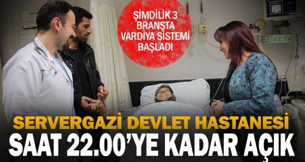 Servergazi Devlet Hastanesi'nde saat 22.00'ye kadar poliklinik uygulaması başladı