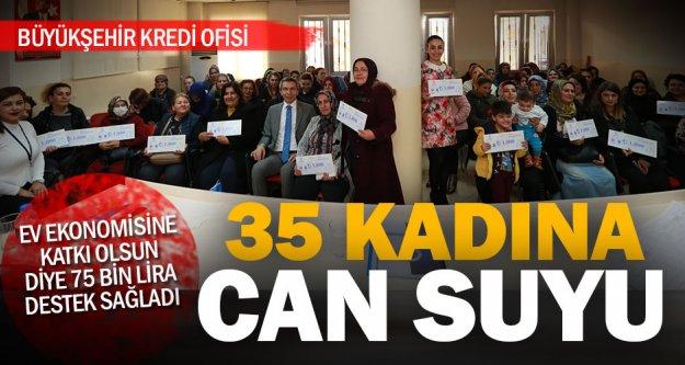 35 kadına 75 bin TL'lik destek