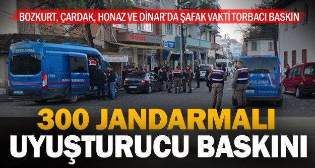Denizli'de jandarmadan uyuşturucu operasyonu, 23 gözaltı