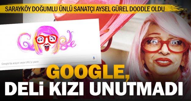 Google'den, Aysel Gürel'in 89'ncu yaş gününe özel Doodle