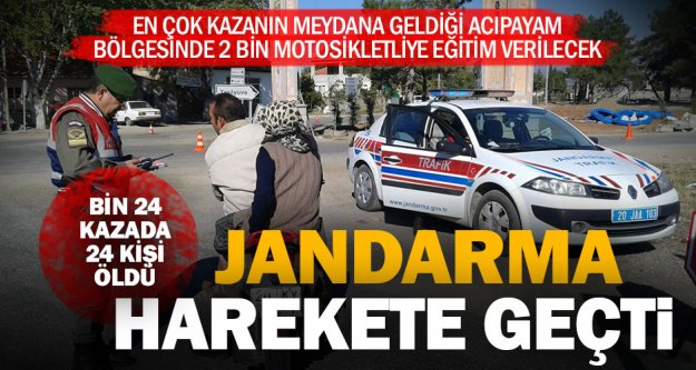 Jandarma kazaları önlemek için motosiklet sürücülerini eğitecek