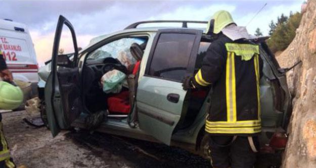 Kale'deki kazada 7 kişi yaralandı