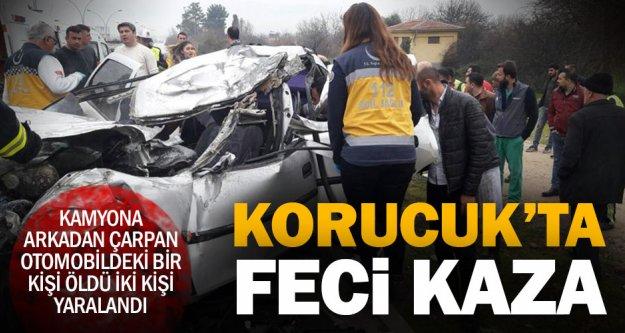 Korucuk'ta kaza: Bir kişi öldü, iki kişi yaralandı