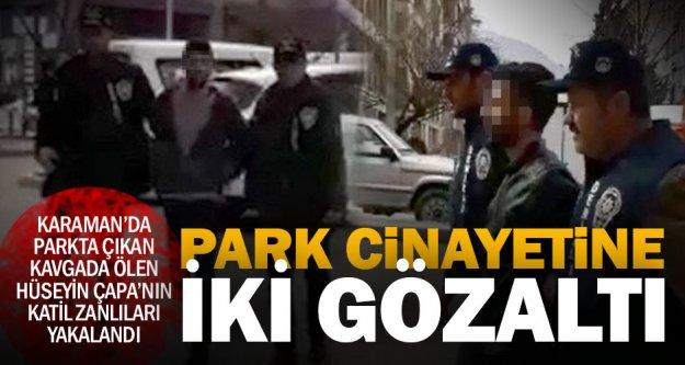 Parktaki cinayetin şüphelileri adliyede