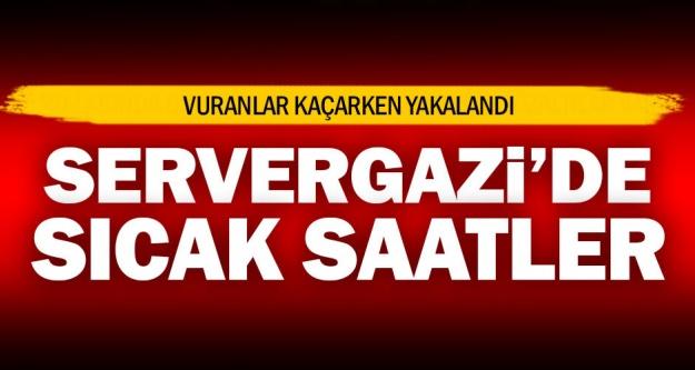 Servergazi'de silahlı çatışma ve gözaltı