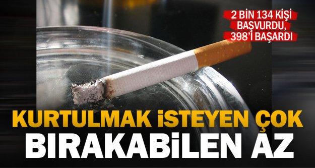 Sigara bırakma polikliniğine başvuran 2 bin 134 kişiden 1736'sı başaramadı