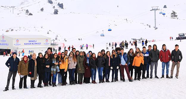 Sınav öncesi kayak morali