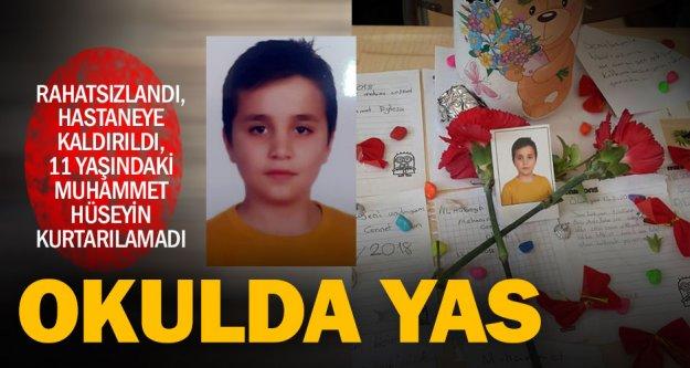 11 yaşındaki öğrenci, rahatsızlandı, vefat etti