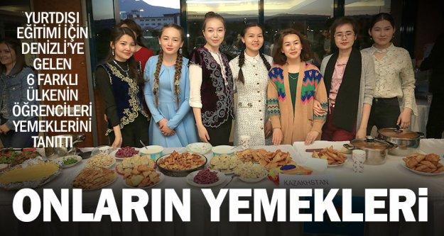 6 farklı ülkeden gelen öğrenciler kültürel yemeklerini tanıttı