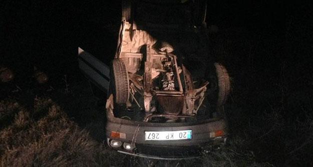 Acıpayam'daki kazada 4 kişi yaralandı