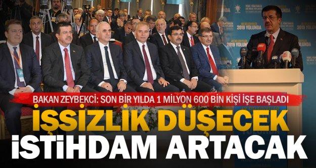 Bakan Zeybekci: Türkiye G-20 ve OECD ülkeleri içinde bir numaralı büyüyen ülke