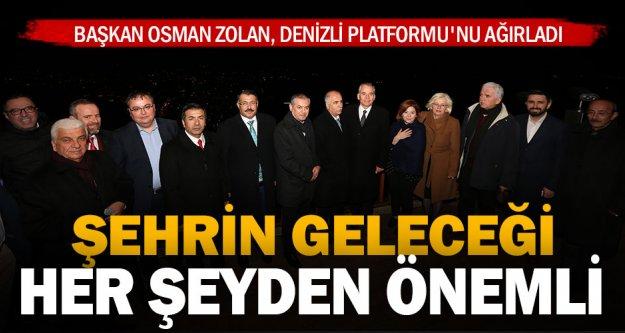 Başkan Osman Zolan, Denizli Platformu'nu ağırladı