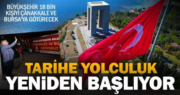 Büyükşehir 18 bin kişiyi Çanakkale ve Bursa'ya götürecek