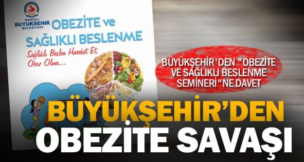 Büyükşehir'den 'Obezite ve Sağlıklı Beslenme Semineri'ne davet