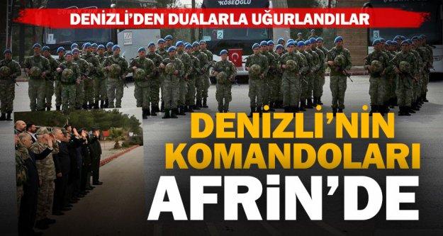 Denizli'den komando taburu Afrin'e uğurlandı