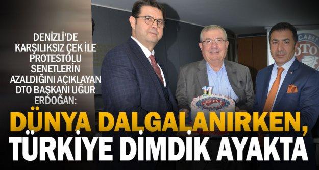 DTO Başkanı Erdoğan: Dünyadaki dalgalanma, büyüyen Türk ekonomisine risk getirmez