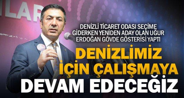 DTO'ya yeniden aday olan Erdoğan, icraatın içinden yaptı