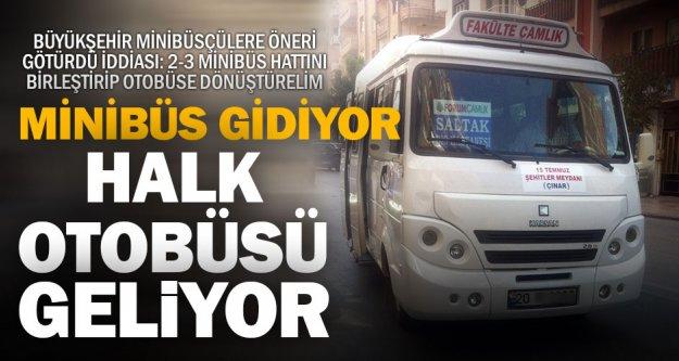 Minibüs hatları birleştirilip halk otobüsü olacak, iddiası
