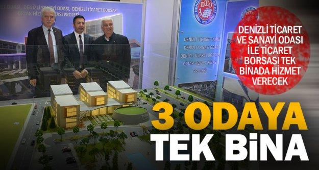 Odalar ve borsa tek binada hizmet verecek