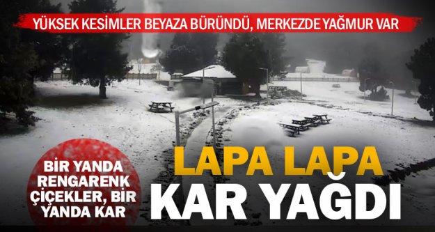 Yüksek kesimlerde kar yağışı